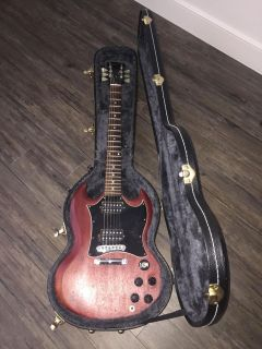Gibson SG Electric Guitar in Worn Cherry