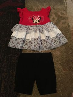 Disney baby 18m Minnie top & bike shorts - ppu (near old chemstrand & 29) or PU @ the Marcus Pointe Thrift Store (on W st)