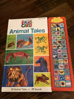 Eric Carle Animal Tales book with sounds, in like new condition.