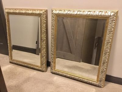TWO GOLD/SILVER MIRRORS
