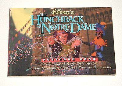Rare OOP Disney's The Hunchback Of Notre Dame Postcard Book 1996 1st Edition