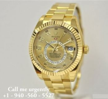 18C Yellow Gold Rolex Sky-Dweller WristWatch