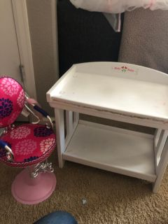 FREE. Doll Chair and changing table