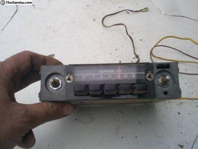 Sapphire XV Beetle AM radio