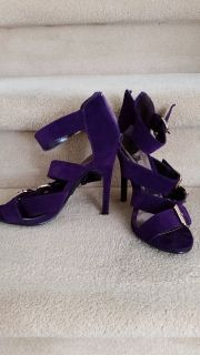 Women's, summer, sandals. For the party. Heel height 14 cm. Four belts with fasteners - adjustable.
