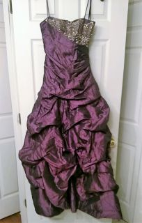 New with Tag Prom Dress Purple sz 3/4