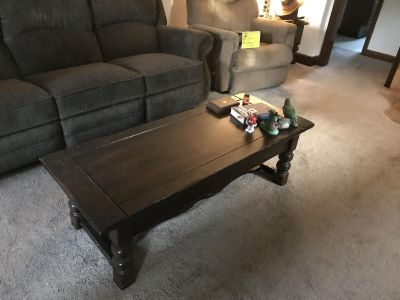 Coffee table with small drawer $30