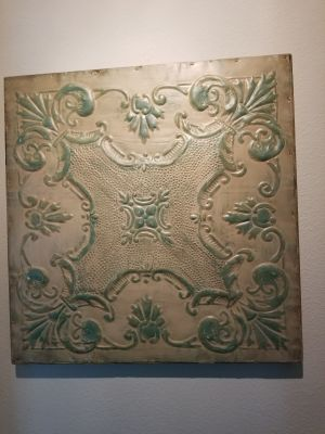 Charming Old Tin Ceiling Tile