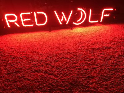 Neon Red Wolf