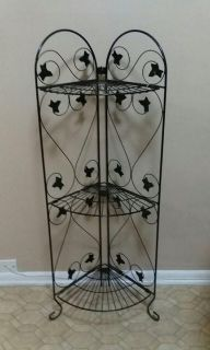 CORNER/WROUGHT IRON STAND......EXCELLENT CONDITION