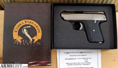 For Sale: IN STOCK Beautiful brand spankin new Cobra CA380 .380acp small pistol