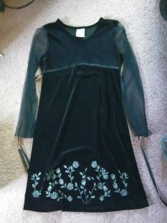 Kandy Kiss girls size 16 black with flowers sequins on bottom dress.$8 Smoke free home.