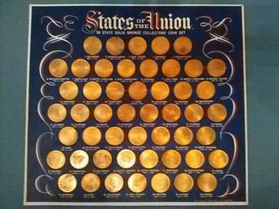 50 State Solid Bronze Collectors Coin Set