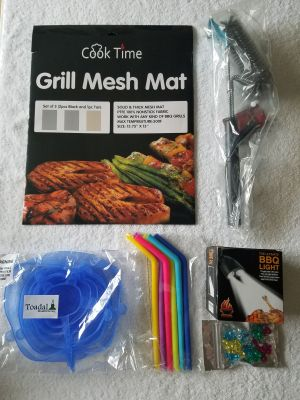 BBQ Grill Light, Grill Brush and Grill Mat