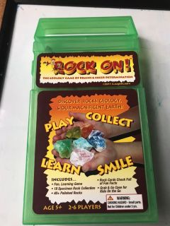 Rock collection learning set/game