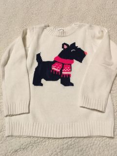 Carters sz 5 sweater with dog