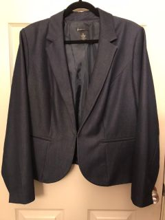 Lane Bryant denim colored blazer plus size 20