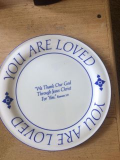 Collectible 1985 Christian Josh & Dottie McDowell You are loved plate