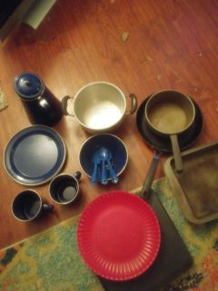 Camping pots/plates/coffee maker