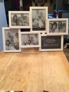 6 photo white picture frame