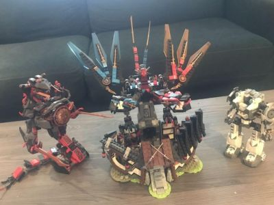 4 sets of Nijago LEGOs with Manuals for each.