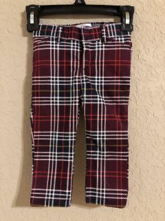 Mini Pixie Brand New Plaid Pants. Old Navy Brand. Size 12-18 Months