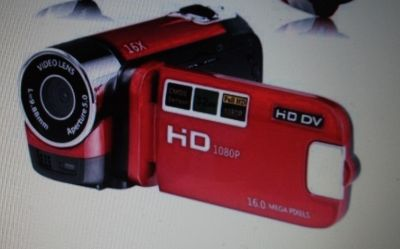 RED HD SMALL CAMCORDER ( NEW )