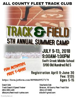 Track & Field Summer Camp