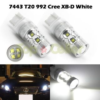 Purchase LED XENON WHITE BACKUP REVERSE LIGHT BULB CREE XB-D 60W T20 7440 7441(1pair) motorcycle in Cupertino, CA, US, for US $43.39