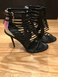 L.A.M.B leather strappy sandals