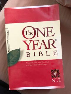 The One Year Bible, NLT, GUC, $4. Porch pick up only.