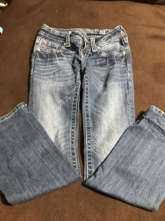 Size 24 Miss Me jeans. Like new!