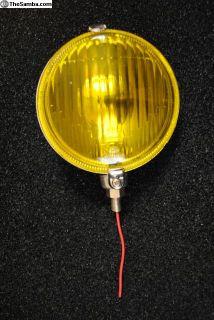NOS accessory vintage yellow convex lens fog light
