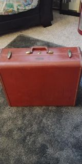 Old Antique Red Suitcase