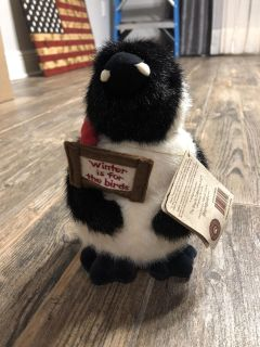 Cute plush penguin. Winter is for the birds. Boyds bears
