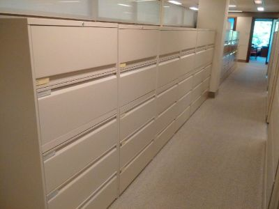 """5 DRAWER LATERAL FILES  36"""" WIDE -  LIKE NEW"""