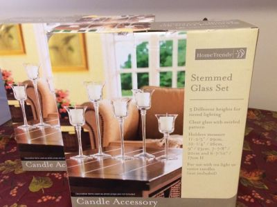 Candle holders 2 boxes