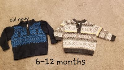 Baby boy 6-12 month sweaters