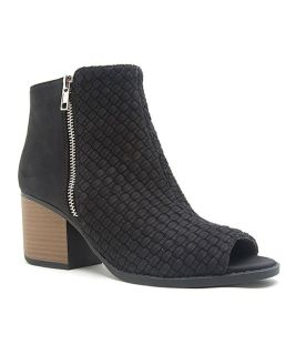 NEW Qupid Black Woven Core Booties Size 6,5
