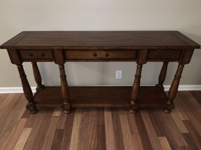 Ethan Allen Solid Wood Sofa Table