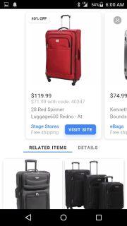 Dockers spinner luggage