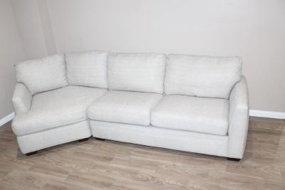 Light Gray Sofa with corner lounge piece