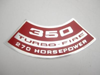 "Find Corvette NEW Air Cleaner Decal ""350 Turbo-Fire 270 Horsepower"" 1971 motorcycle in Livermore, California, US, for US $8.68"