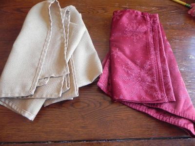 Cloth Napkins $3 for lot of 5