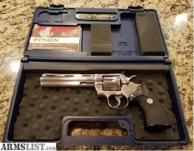 For Sale: Colt Python Stainless 1982 1ST YEAR STS Colt Case
