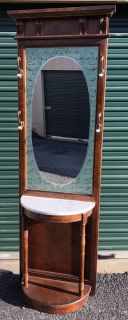 Mirrored Hall Tree with Marble Top * Excellent Condition