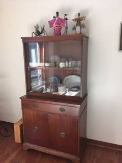 Vintage Solid Cherry 2 piece China Cabinet