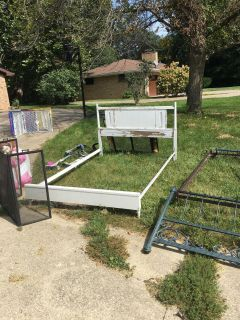 Full sized wooden bed frame. Great project!! Price reduced!!