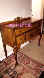 As is or for a project. beautiful wooden buffet. No hold. Pick up ASAP. Reduced price