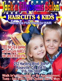 Jack n Jillybeans Salon HAIRCUTS 4 Kids 916-786-3888